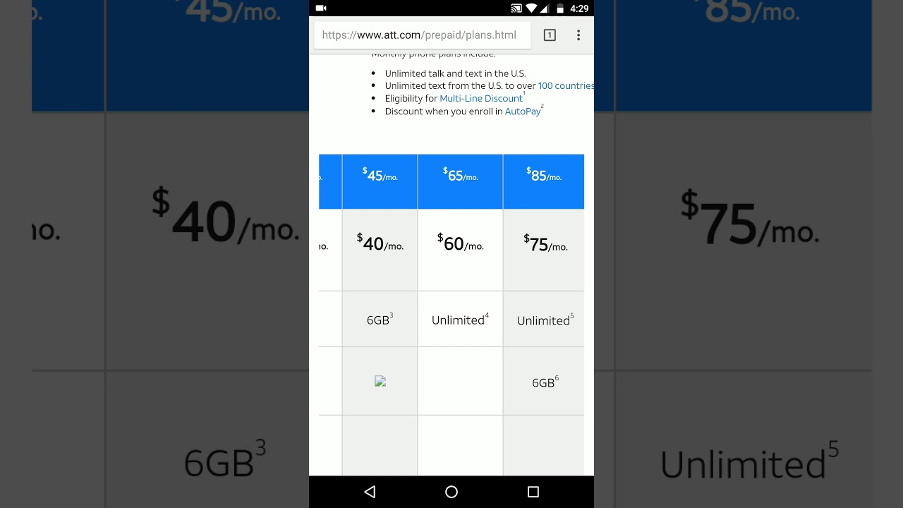 New unthrottled AT&T prepaid plan with hotspot
