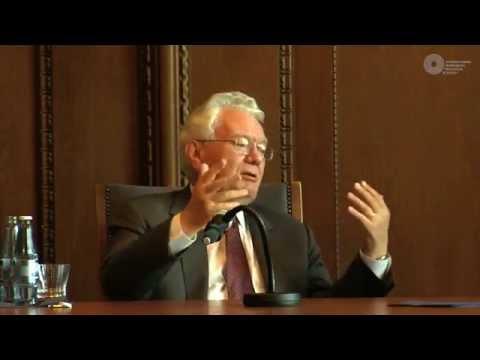 Thomas Buergenthal Talks with Daniel Kehlmann in Courtroom 600