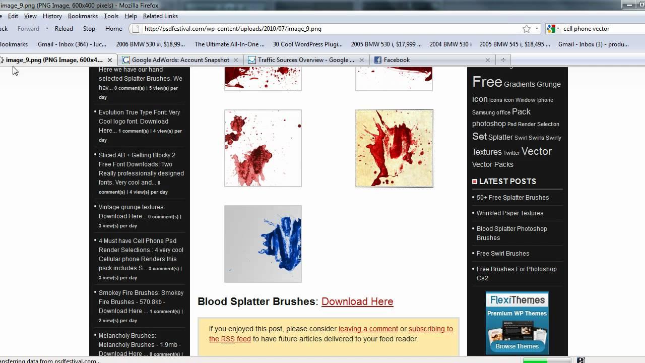 Gmail bmw theme - Blood Splatter Brushes