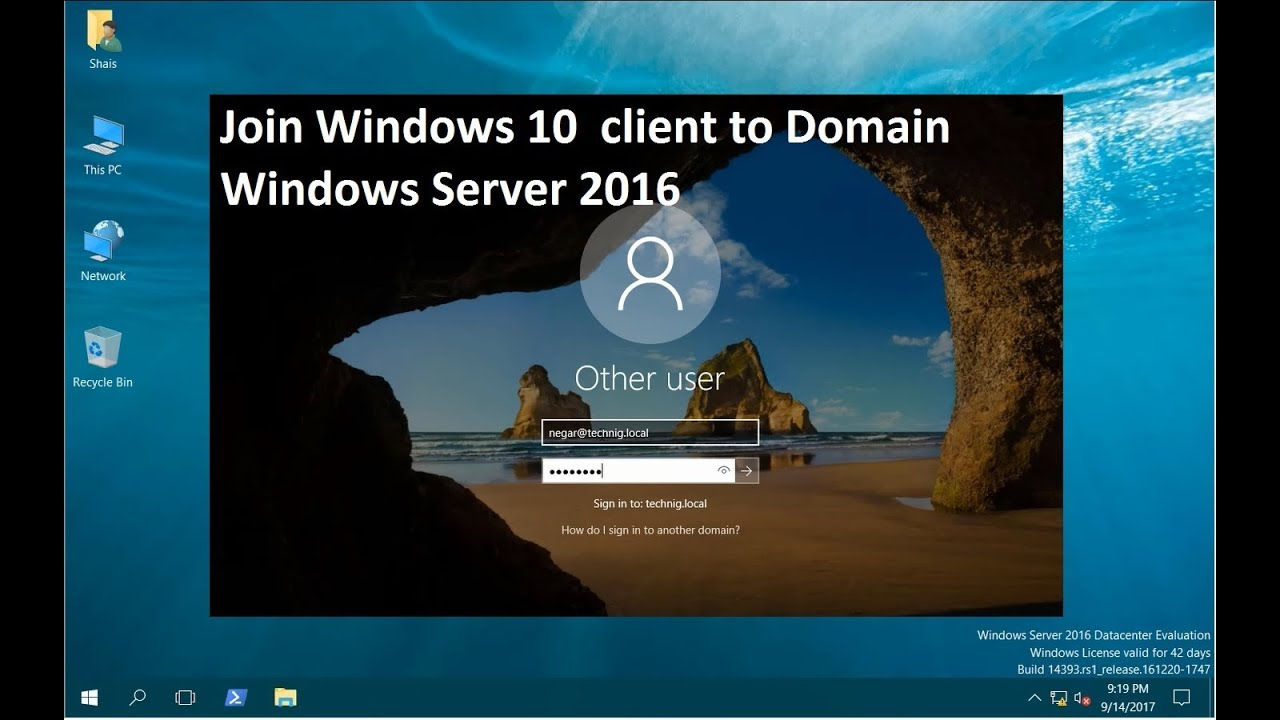 how to set up a domain login windows 7