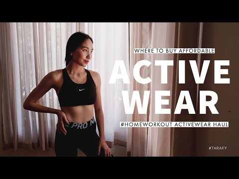 WHERE TO BUY AFFORDABLE ACTIVEWEAR I Haul + Try On + Why I Workout #NEWNORMAL #HOMEWORKOUT