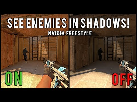 See Enemies In Shadows Easier In CSGO Using Nvidia Freestyle