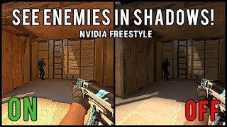 See Enemies In Shadows Easier In CSGO Using Nvidia Freestyle! | Competitive Advantage