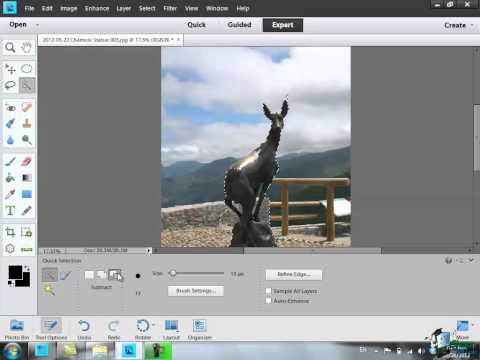 Learn How To Use Photoshop Elements 11 - Part 35 -  How To Use The Quick Selection Tool