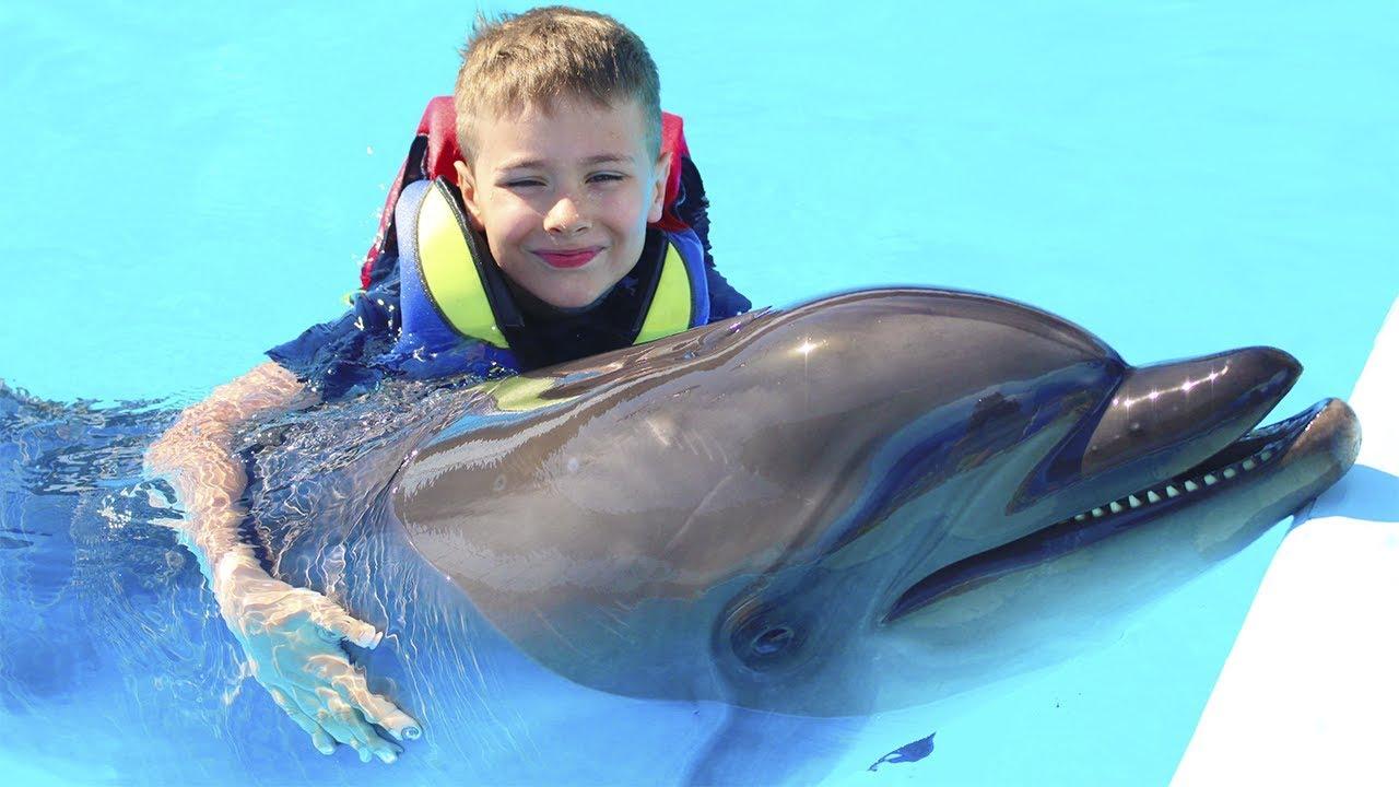 ПОДРУЖИЛСЯ С ДЕЛЬФИНОМ!!! Fast Sergey плавает с Дельфином! Видео для детей // video for kids