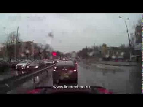 Заезд в автосервис «Технолайн» с Октябрьского проспекта от Макдональдса в Люберцах