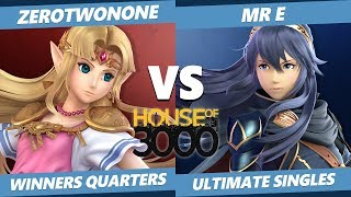 Smash Ultimate Tournament - ZeroTwoNone (Zelda) Vs. Mr E (Lucina) SSBU Xeno 189 Winners Quarters
