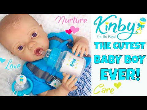 💙Kinby Boy Doll - Baby Nathan! 👶🏻Ultra Realistic Baby Doll Made From 3D Scans Of A Real Baby! 🤗
