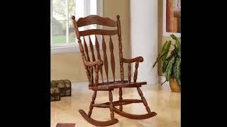Wooden Rocking Chair - Wooden Rocking Chair Cushions For Nursery| Stylish Modern Interior Decor