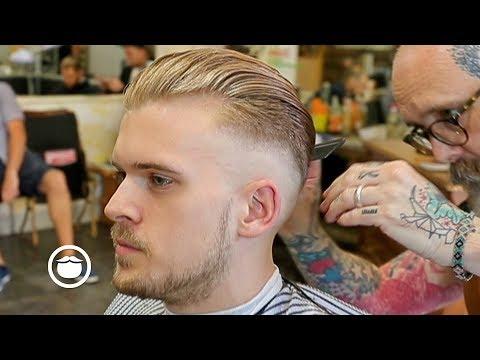 Mens Modern Slick Back Hairstyle Haircut Tutorial 2019 Mens