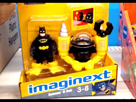 BATMAN & Submarine with Claw and Drill IMAGINEXT [Fisher Price] DC Super Friends