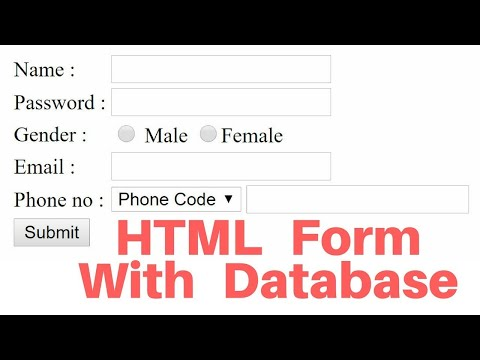 Insert HTML Form Data Into SQL Database Using PHP