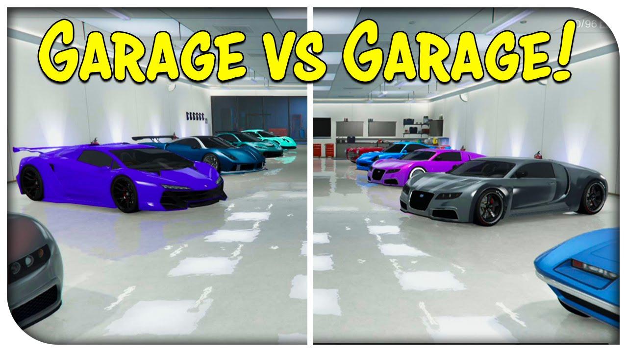 Gta 5 online the garage vs garage showdown ep 9 for Garajes gta v online