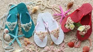 How to decorate flip flops for summer - DIY Summer Flip flops