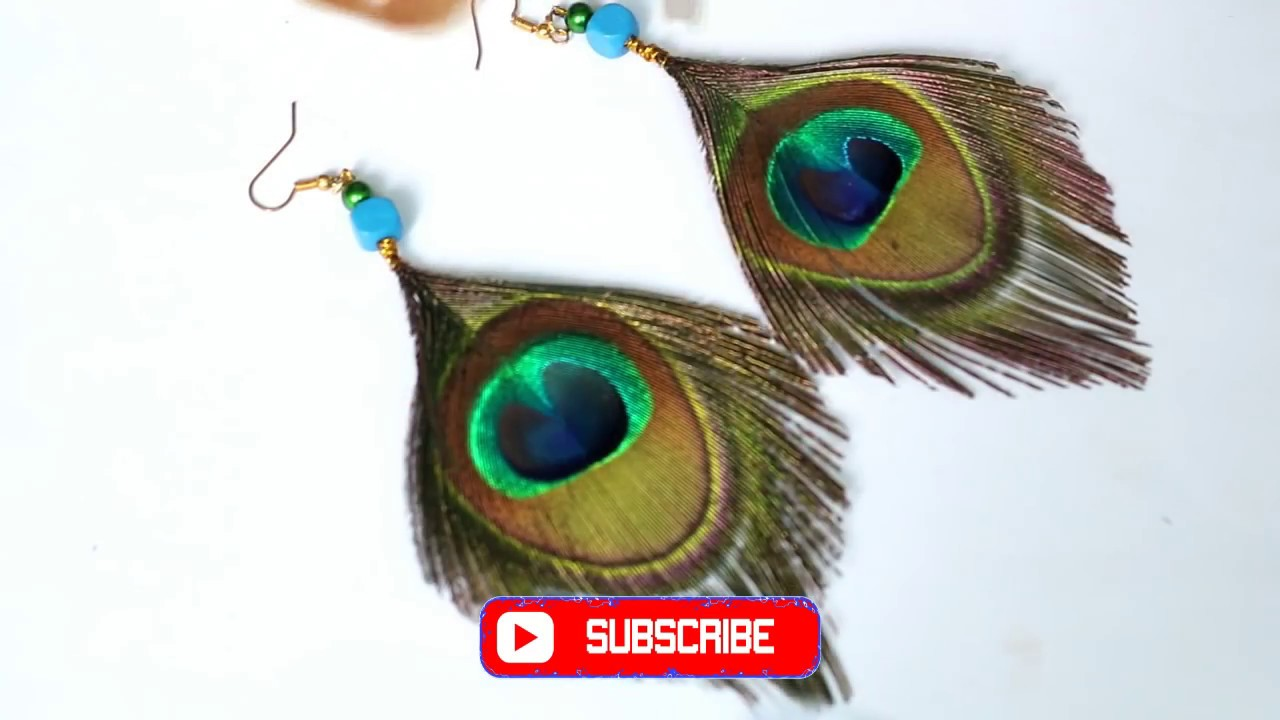 How To Make Pea Feather Earring At Home Making New Design From