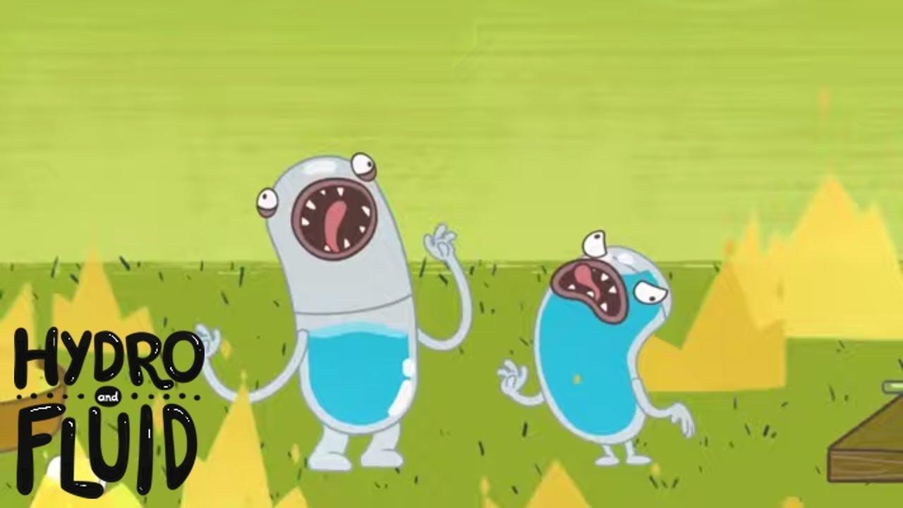 ¡Absolutamente abrasador! | HYDRO Y FLUID | Dibujos animados divertidos para niños