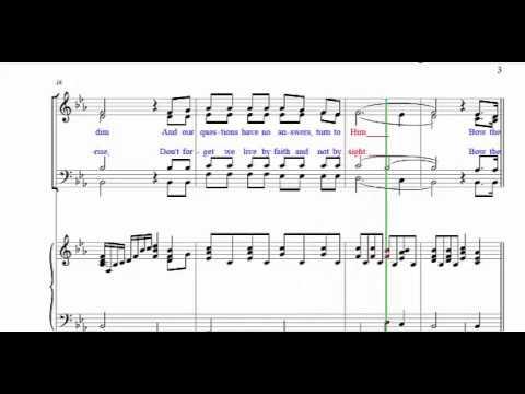TF- Bow The Knee SATB Piano Accompaniment