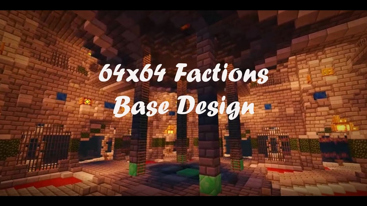 64x64 Factions Base Tour Minecraft Faction Interior Design Ep 7 With
