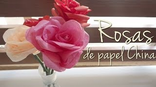 Como hacer rosas con papel china/crepe Thumbnail