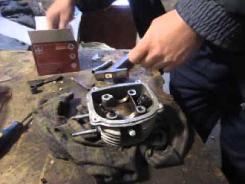 Как снять клапана на скутере 4т видео