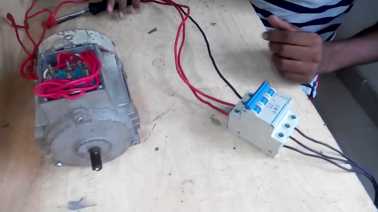 How to Start 3 Phase Motor star Connection .Three phase motor star ...