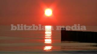 Stock Footage Europe Germany Baltic Sea Sunset Beach Ostsee Strand Sonnenuntergang Travel Urlaub