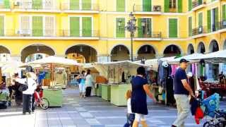 Tourist Video Mallorca with google street map Part 9 of Palma de Mallorca,  Placa Mayor
