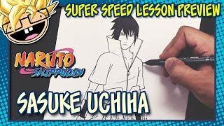 Lesson Preview: How to Draw SASUKE UCHIHA (Naruto) | Super Speed Time Lapse Art