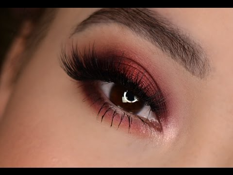 Burgundy Eye look | Fall Makeup tutorial