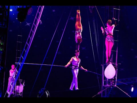 High wire- Sergey Makarov group. Circus Toulouse 2014-15.Кан