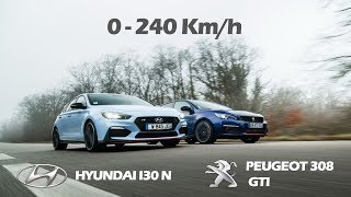 COMPARATIVE!! HYUNDAI I30 N PP 271HP Vs PEUGEOT 308 GTI 270HP - FWD Vs FWD