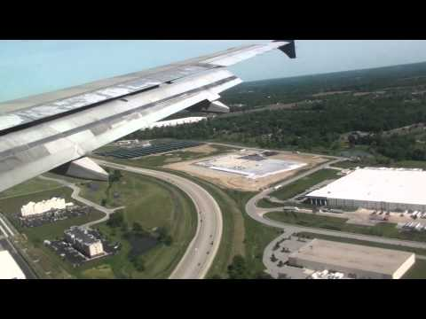 Landing at Indianapolis International Airport