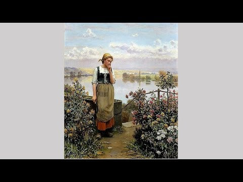Beautiful girl gardeners by Daniel Ridgway Knight