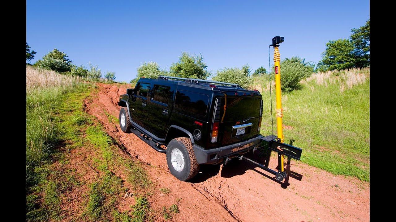 Telescopic mobile video surveillance camera mast for police use