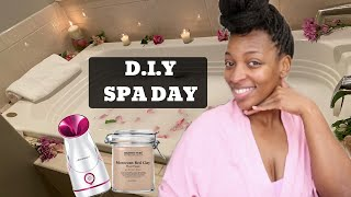 DIY SPA DAY AT HOME...SELF CARE LUXURY SPA AT HOME With Facial Steaming &amp Lux Bubble Bath