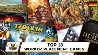 Top 13 Worker Placement Brettspiele (deutsch)