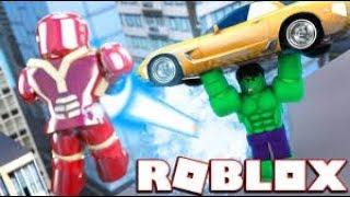 iron man vs hulk !!!!!!! roblox : Avengers Testing