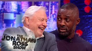 Sir David Attenborough Terrifies Idris Elba With 'Land Octopus' | The Jonathan Ross Show