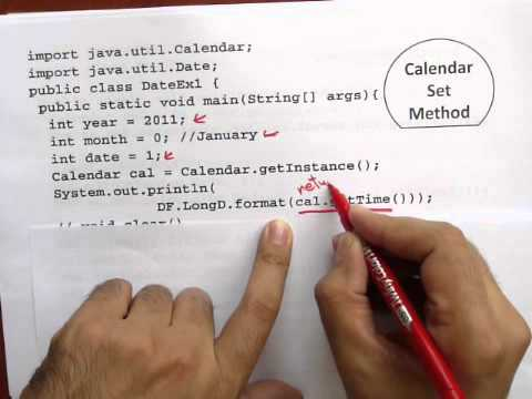 Date And Calendar Part 2 جافا