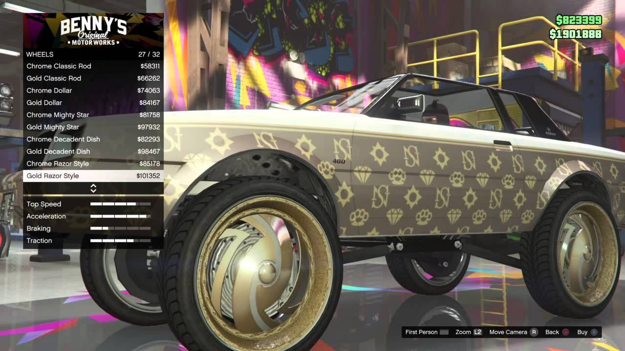 Lowrider Rims And Tires >> GTA V Online - Lowrider 2 Custom Classics NEW Bespoke Wheels! - YouTube