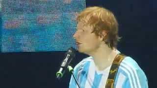 ed sheeran kiss me thinking out loud buenos aires argentina 25 04 2015