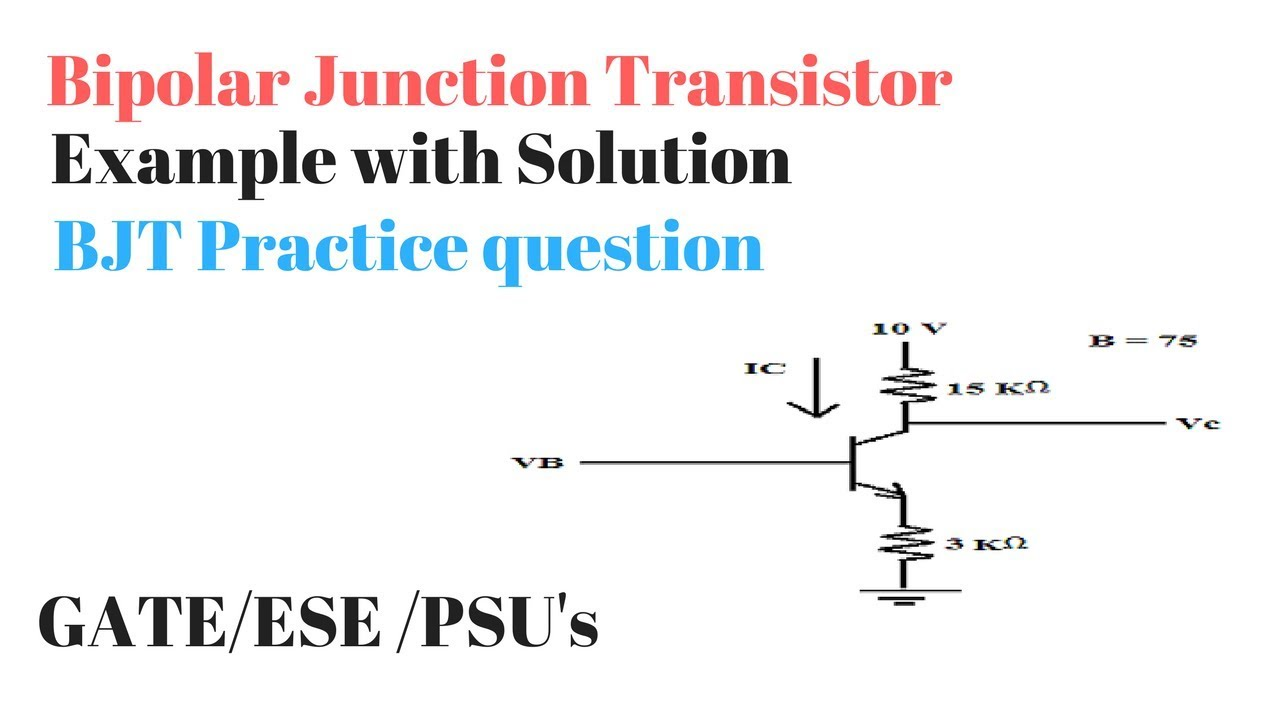 Bjt Example Question With Solution Analog Electronics Practice Unijunction Transistor Tutorial Electronic Circuits Science Hobby Questions In Hindi