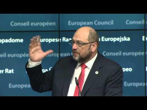 Special European Council: European Parliament President Martin Schulz
