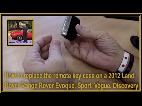 How to replace the remote key case on a 2012 Land Rover Range Rover Evoque, Sport, Vogue, Discovery