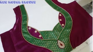 new modal blouse back neck design cutting and stitching||DIY