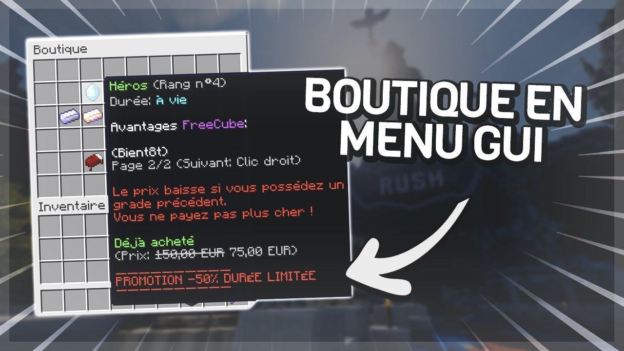 TUTORIEL PLUGIN - Crée une boutique sous forme de menu (coins, xp, items  )