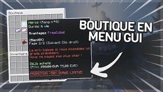 TUTORIEL PLUGIN - Crée une boutique sous forme de menu (coins, xp, items..)