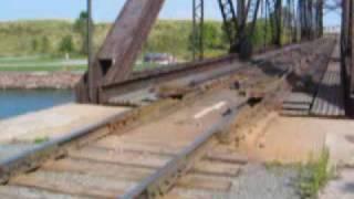 Swing bridge in action