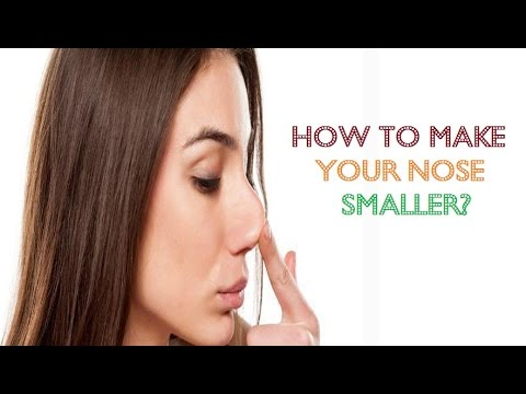 How to make your nose smaller without makeup