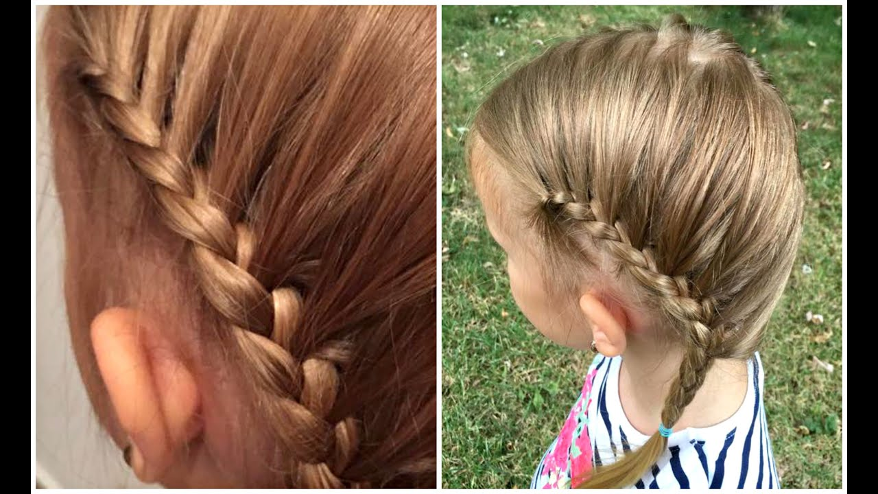 Lace Braids Back To School Hair Tutorial Girls Hairstyles Youtube